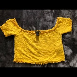 Yellow forever21 crop top (worn only 1 time)